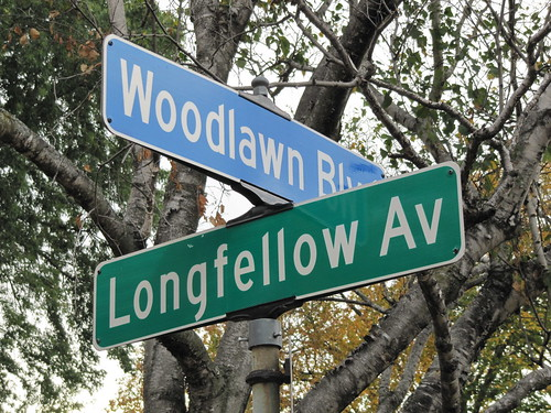 Longfellow Ave at Woodlawn Blvd