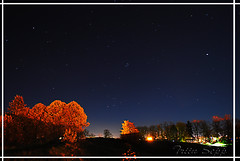 "bright autumn ""night"" (Triiiin) Tags: autumn trees sky stars lights nikon october shadows sunday rakvere 2011 nikond60 vallimgi"