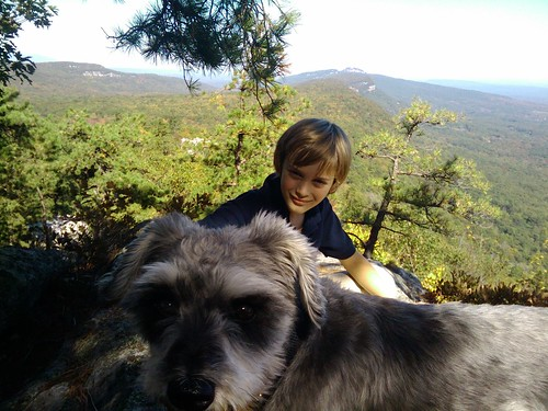 Hiking Dog & Boy