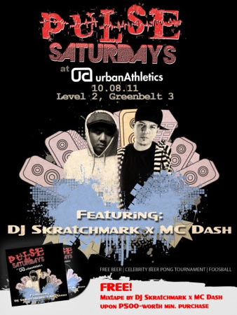 Pulse Saturdays at Urban Athletics party with DJ Skratchmark and MC Dash