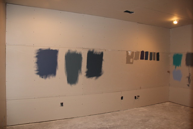 basement theater room paint samples