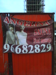 Angelina Sauna (and foot massage!)