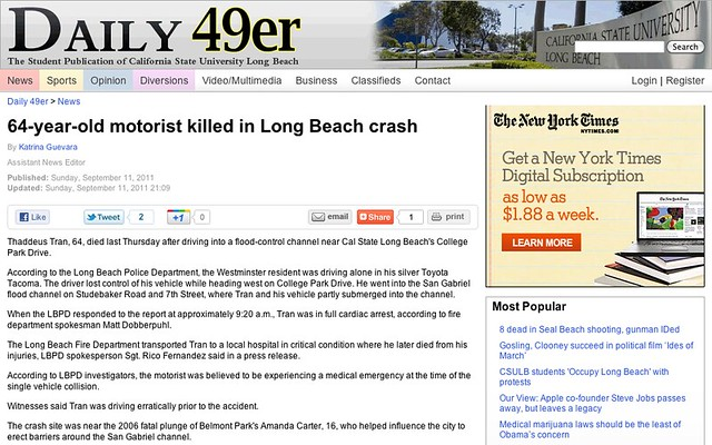 64-year-old motorist killed in Long Beach crash - News - Daily 49er - California State University Long Beach