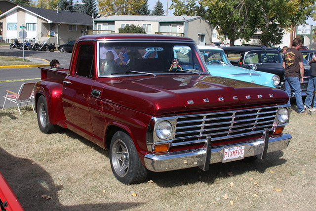 red classic truck mercury canadian 1967 m100 stepside