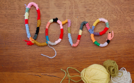 Yarn Wrapped Pipe Cleaner Font