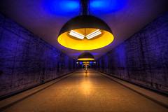 U (klickertrigger) Tags: blue station yellow subway munich münchen bahnhof ubahn westfriedhof