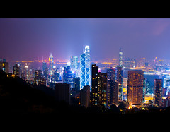 Rent for HK$100 x 6000 sqft per month (terencehonin) Tags: dusty night buildings landscape hongkong nikon view air peak pollution nikkor lightpollution d700 nikonafsnikkor24mmf14ged
