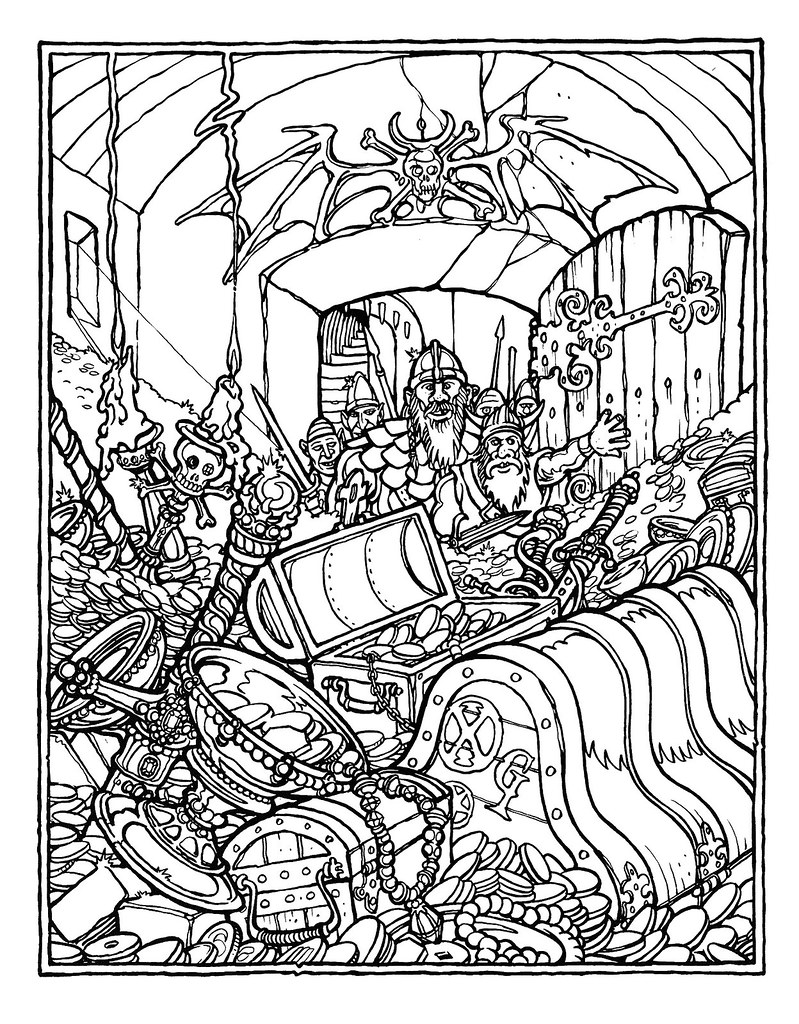 greg irons the official advanced dungeons and dragons coloring album adventures end 1979 - Dragon Coloring Pages For Adults