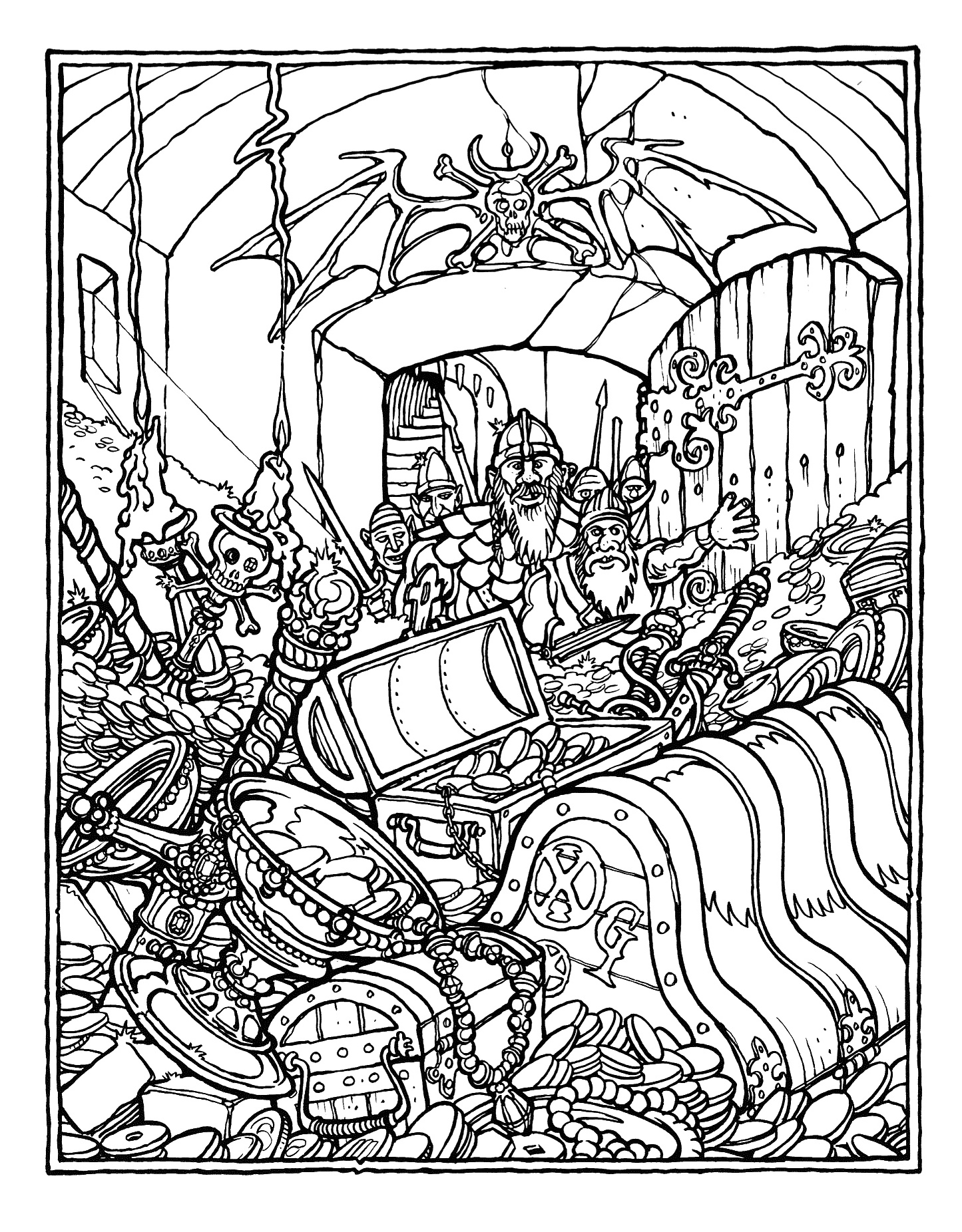 The Official Advanced Dungeons and Dragons Coloring Book ...
