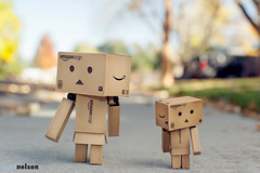 Guess Who's Back???!? (scnelsonfoto) Tags: love japan kids scott 50mm amazon nikon bokeh box flash nelson f45 figurines 50 danbo revoltech d700 danboard