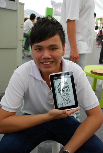 digital caricature live sketching on HTC Flyer for HTC Weekend - Day 2 - 22