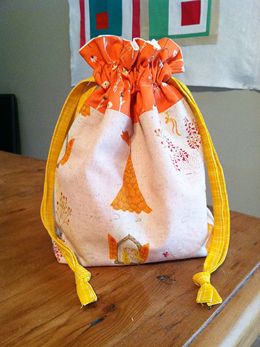 Drawstring bag for the little miss