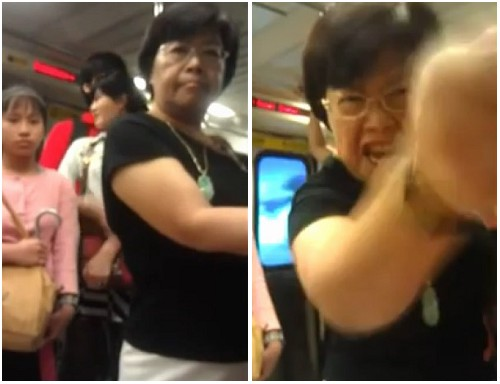 Mad Chinese Woman Scolding On Subway With Chinglish