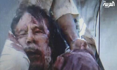 Dying Gaddafi