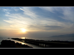 beach jetty at sunset (khrawlings) Tags: turkey selcuk ephesus 2011 khrawlings