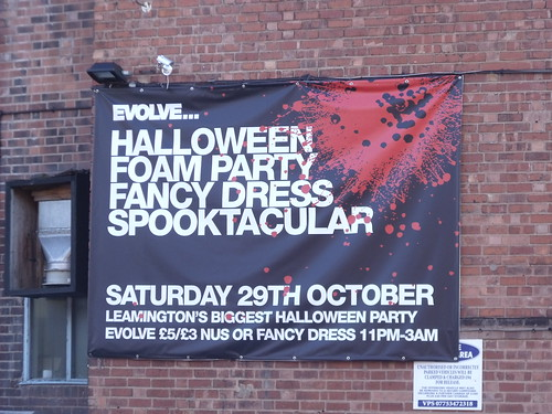Evolve ... Halloween Foam Party Fancy Dress Spooktacular - Leamington Spa - banner