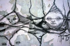 Los Dog 10 (Los Dave) Tags: street portrait streetart building art dave landscape chalk site los faces drawing decay charcoal walls crayon derelict graphite collaboration mydogsighs coolart conte