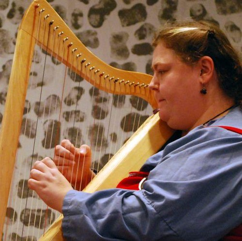 me playing my harp