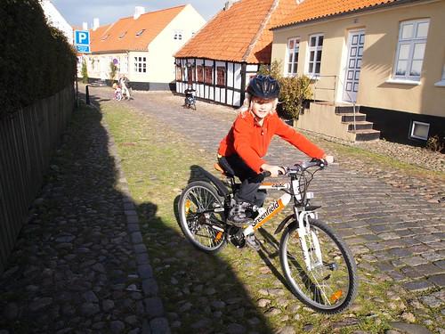 Cykler for første gang i Ebekltoft