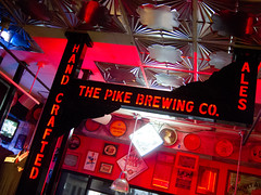Pike Brewing Company (ahockley) Tags: seattle red colors sign washington restaurants gnomedex pikebrewing