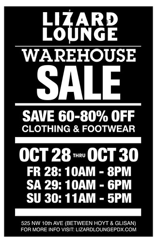 Lizard Lounge NW Portland Warehouse Sale This Weekend | Pendleton, Levis Vintage, Nau, G-Star, & More