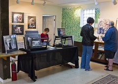 My Setup (Cheryl Atkins) Tags: fun mine first exhibit setup artshow exhausting school33openstudiotour