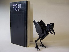 """Nevermore....Nevermore!"" (monsterbrick) Tags: bird book poem lego aviary crow raven blackbird edgarallenpoe theraven moc"