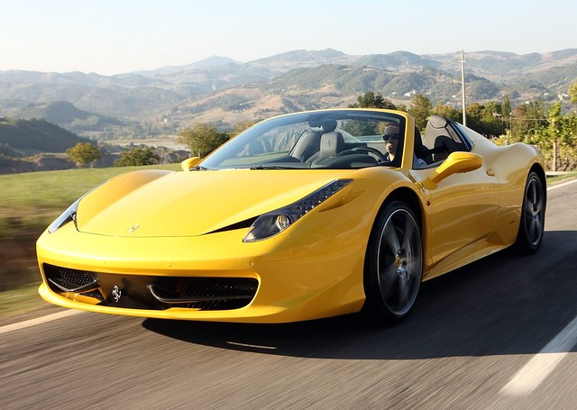 Mellow Yellow: Stunning New Ferrari 458 Spider Images - Teamsd.com