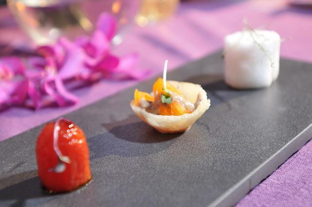 圖四 香港米其林餐廳Bo Innovation主廚推薦料理_八珍甜醋釀番茄。