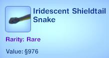 Iridescent Shieldtail Snake