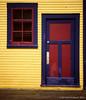 vermillionville (Mike Ambach) Tags: film window vertical wall analog mediumformat bc rangefinder utata 120mm barkerville fujiga645zi utatafeature fujirvp50film