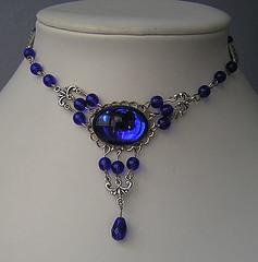 amy (kaitanigoth) Tags: black glass necklace purple vampire gothic goth victorian tudor chain cameo romantic crepusculo chocker