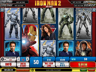 Iron Man 2 50 Lines slot game online review