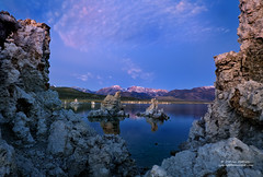 Purple Mountain Majesties (Darvin Atkeson) Tags: california statepark park autumn sunset mountain lake color fall sunrise landscape mono nationalpark october desert state nevada sierra yosemite monolake sierranevada eastern range tufa closure darvin atkeson darv liquidmoonlightcom