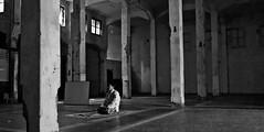 (Syahraki Syahrir) Tags: blackandwhite nikon muslim islam praying jakarta moslem shalat d40 sembahyang kotatua