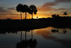 Last of the light (kstraw2) Tags: sunset reflection golf island florida course fl sanibel captiva nikond80 dunesgolftennisclub kstraw2
