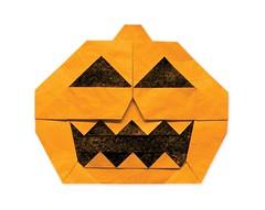 Jack-o'-Lantern - Jun Maekawa (EZ Origami) Tags: evan jack video origami o jackolantern diagram howto ez lantern tutorial jun youtube maekawa zodl