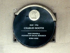 Photo of Charles Booth black plaque
