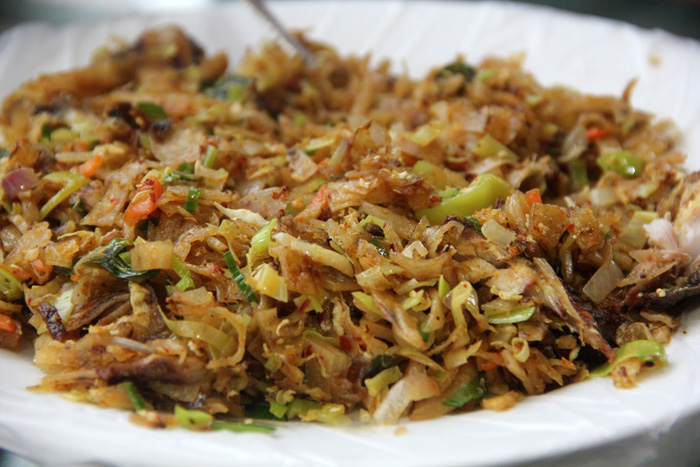 Egg Kottu in Sri Lanka