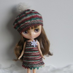 Middie Snowflake Slip Dress and Snowball Beret