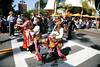 Gemblak dancers in the street of Los Angeles