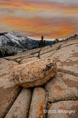 Yosemite Olmstead Point Sunrise (Bill Wight CA) Tags: california fall lines nationalpark rocks yosemite highsierra olmsteadpoint billwight copyright2011