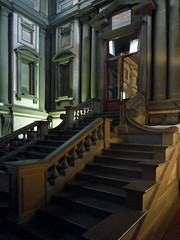 Michelangelo, Laurentian Vestibule Stairs From Left