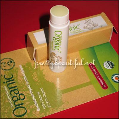 Menthoalatum Organic Certified Lipbalm - Raspberry & Strawberry Inside