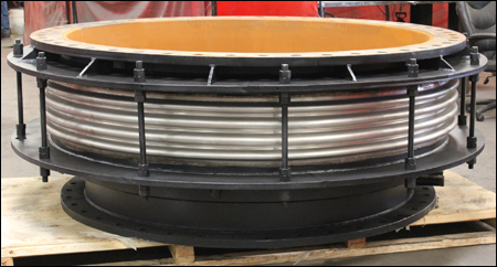 "76"" dia. Single Tied Expansion Joint for a Hot Blast Valve in a Steel Mill"