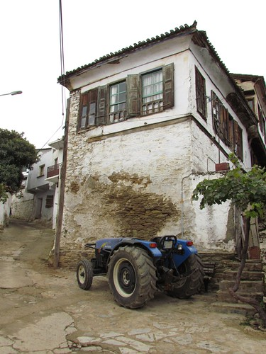 Farmer tractor in Sirince