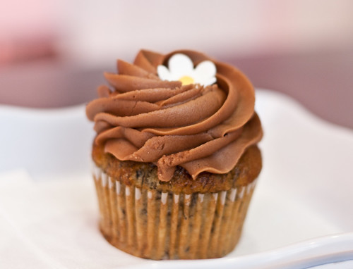 Cako banana nutella cupcake