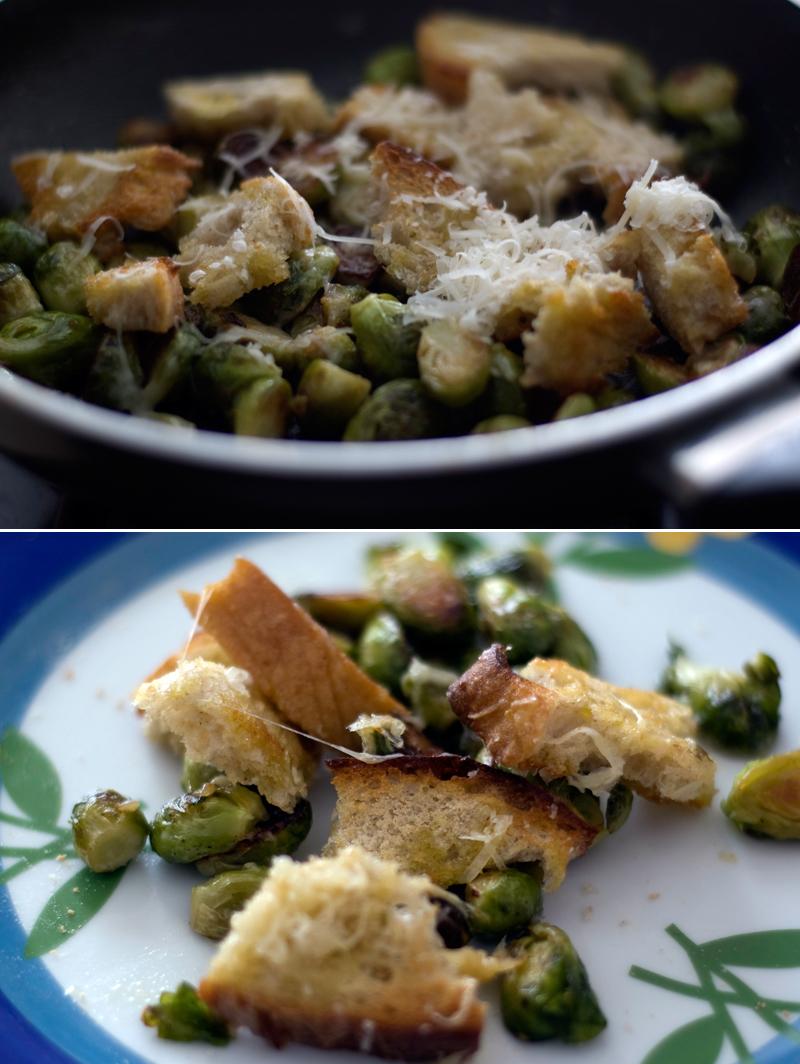 Couves de Bruxelas com parmesão // Brussels Sprouts with Parmesan