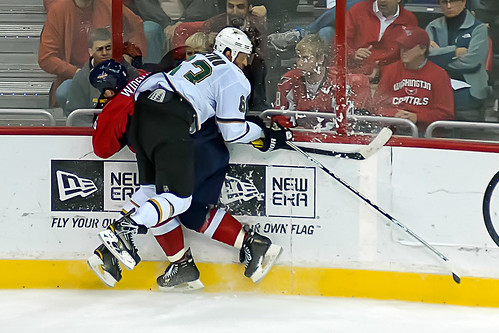 Ribeiro Lays a Hard Check on Wideman