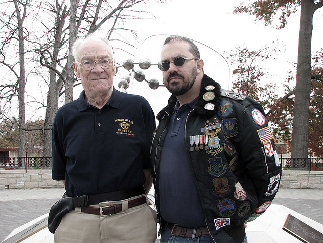 Eric Howton & Bill KSU WWII Memorial, Manhattan, KS 2011